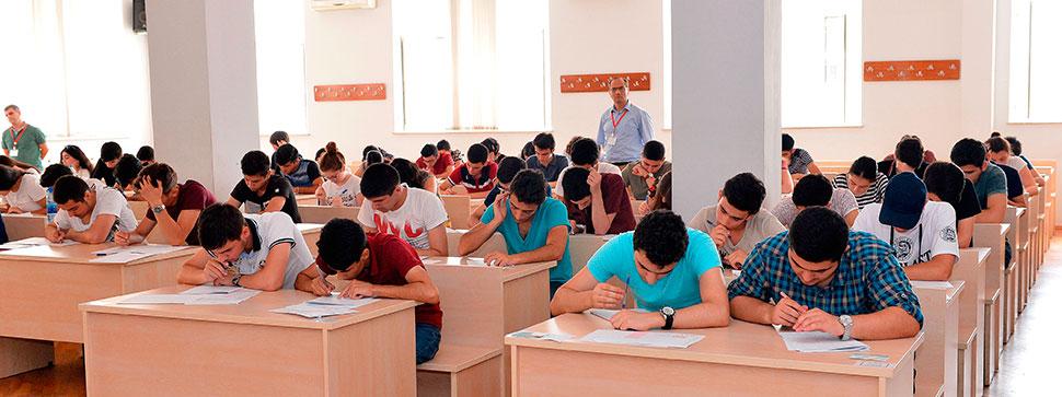 Fransız-Azərbaycan Universitetinə qəbul imtahanı keçirilib