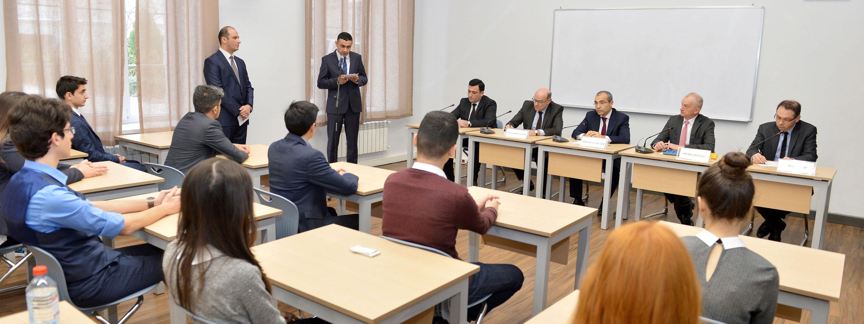Fransa nümayəndə heyəti Fransız-Azərbaycan Universitetində