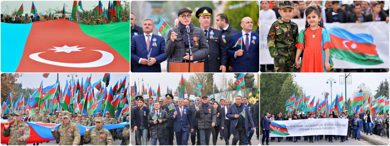 """Tərtər rayonunda """"Bayraq yürüşü"""""""